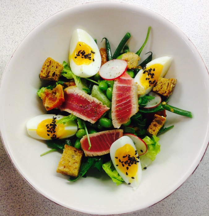 Seared Tuna Salad Created @ Peardrop London