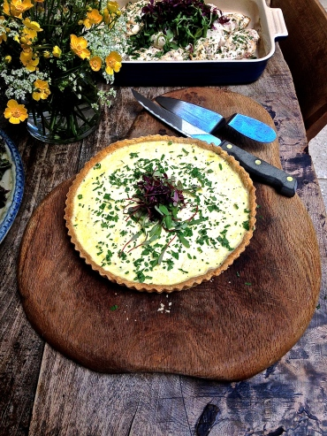 Herb Quiche with Red Amaranth