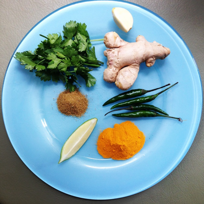 Ingredients for a Curry Paste