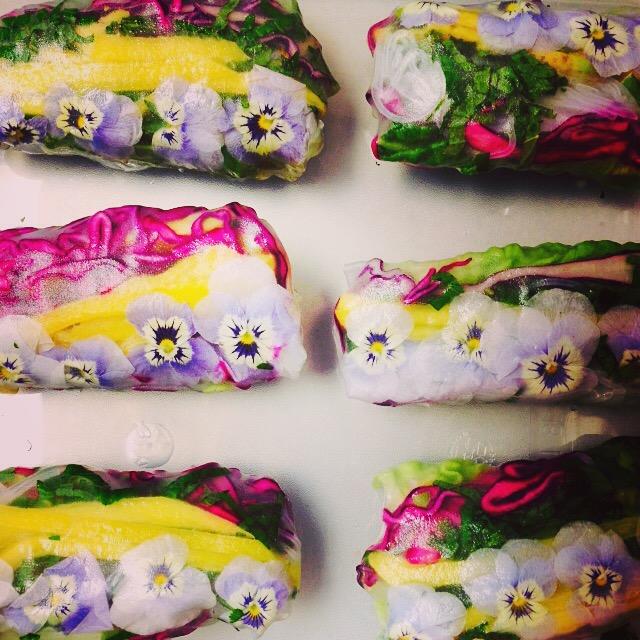 Vietnamese Spring Rolls Created @ Peardrop London