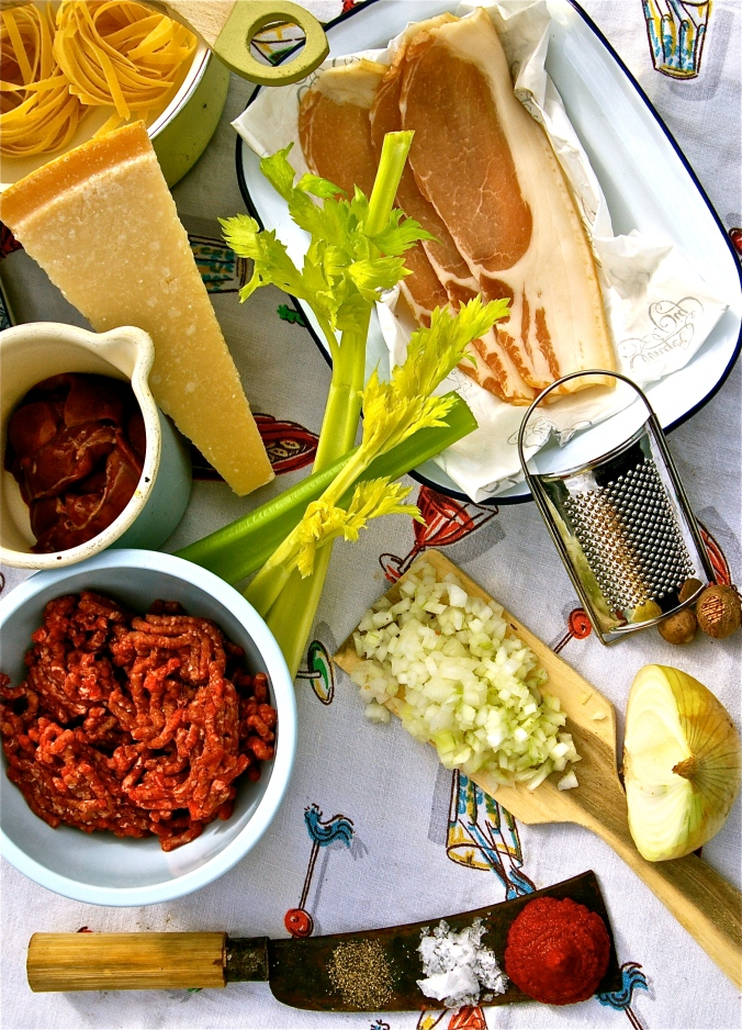Ingredients for Elizabeth David's Ragu