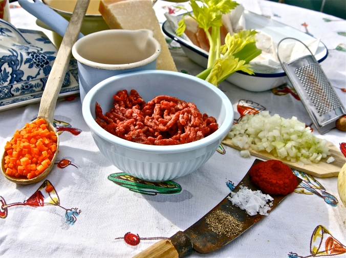 Ingredients for LIver Ragu